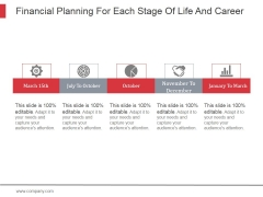 Financial Planning For Each Stage Of Life And Career Ppt PowerPoint Presentation Shapes