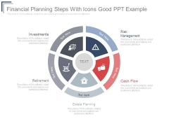 Financial Planning Steps With Icons Good Ppt Example
