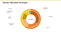 Financial Plans For Retirement Planning Income Allocation Strategies Ppt Slides Graphics Pictures PDF