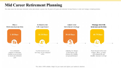 Financial Plans For Retirement Planning Mid Career Retirement Planning Ppt Portfolio Slide PDF