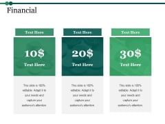 Financial Ppt PowerPoint Presentation Model Templates