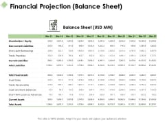 Financial Projection Balance Sheet Ppt PowerPoint Presentation Pictures Influencers