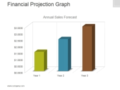 Financial Projection Graph Template 1 Ppt PowerPoint Presentation Clipart