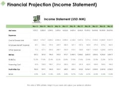 Financial Projection Income Statement Ppt PowerPoint Presentation Visual Aids Styles