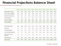 Financial Projections Balance Sheet Ppt PowerPoint Presentation Gallery Show
