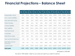Financial Projections Balance Sheet Ppt PowerPoint Presentation Infographic Template Background Designs