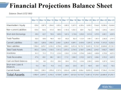 Financial Projections Balance Sheet Ppt PowerPoint Presentation Layouts Icon