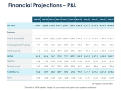 Financial Projections P And L Marketing Ppt PowerPoint Presentation Styles Example Introduction