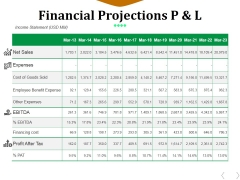 Financial Projections P And L Ppt PowerPoint Presentation File Professional