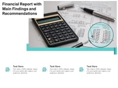 Financial Report With Main Findings And Recommendations Ppt PowerPoint Presentation File Demonstration PDF