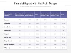 Financial Report With Net Profit Margin Ppt PowerPoint Presentation File Example PDF