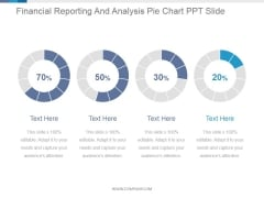 Financial Reporting And Analysis Pie Chart Ppt PowerPoint Presentation Guidelines
