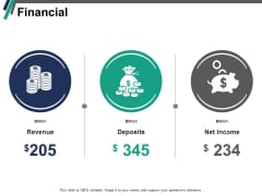 Financial Revenue Deposits Ppt PowerPoint Presentation File Slides