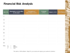 Financial Risk Analysis Ppt Powerpoint Presentation File Graphic Tips