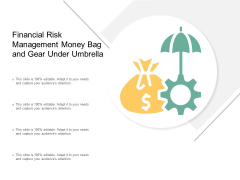 Financial Risk Management Money Bag And Gear Under Umbrella Ppt PowerPoint Presentation Outline Background Image