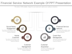Financial Service Network Example Of Ppt Presentation