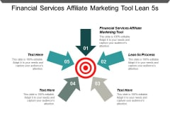Financial Services Affiliate Marketing Tool Lean 5S Process Ppt PowerPoint Presentation Show Introduction