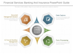 Financial Services Banking And Insurance Powerpoint Guide