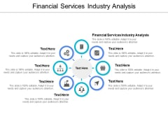 Financial Services Industry Analysis Ppt PowerPoint Presentation Summary Guide Cpb
