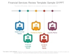 Financial Services Review Template Sample Of Ppt