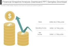 Financial Snapshot Analysis Dashboard Ppt Samples Download