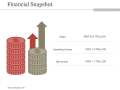 Financial Snapshot Ppt PowerPoint Presentation Backgrounds