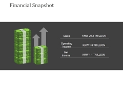Financial Snapshot Ppt PowerPoint Presentation Model Themes