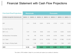 Financial Statement With Cash Flow Projections Ppt PowerPoint Presentation Infographics Brochure