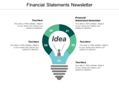 Financial Statements Newsletter Ppt Powerpoint Presentation Inspiration Files Cpb