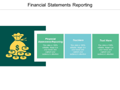 Financial Statements Reporting Ppt Powerpoint Presentation Summary Elements Cpb