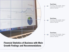 Financial Statistics Of Business With Main Growth Findings And Recommendations Ppt PowerPoint Presentation Gallery Template PDF