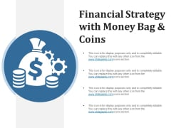 Financial Strategy With Money Bag And Coins Ppt PowerPoint Presentation Styles Format