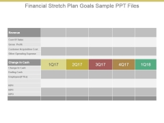 Financial Stretch Plan Goals Sample Ppt Files