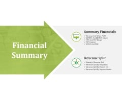 Financial Summary Ppt PowerPoint Presentation Icon Pictures