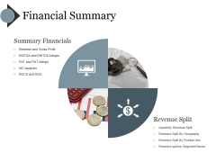 Financial Summary Ppt PowerPoint Presentation Layouts Tips