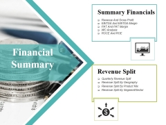 Financial Summary Ppt PowerPoint Presentation Outline Vector