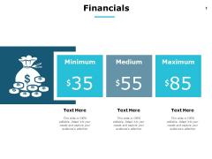 Financials Medium Minimum Maximum Ppt PowerPoint Presentation Summary Layout