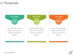 Financials Ppt PowerPoint Presentation Diagrams