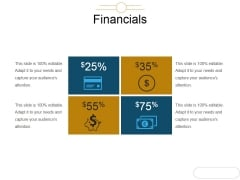 Financials Ppt PowerPoint Presentation Icon