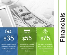 Financials Ppt PowerPoint Presentation Infographics Guidelines