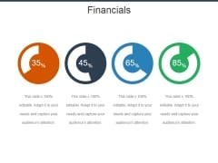 Financials Ppt Powerpoint Presentation Layouts Background Image