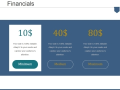 Financials Ppt PowerPoint Presentation Show Icons