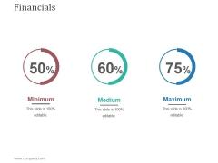Financials Ppt PowerPoint Presentation Show