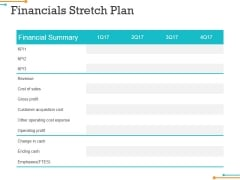Financials Stretch Plan Ppt Powerpoint Presentation Infographics Background Image