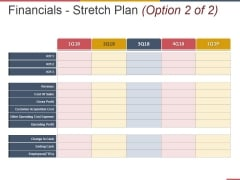 Financials Stretch Plan Template 1 Ppt PowerPoint Presentation Pictures Professional