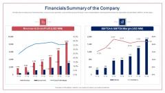 Financials Summary Of The Company Ppt Model Portfolio PDF