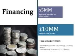 Financing Ppt PowerPoint Presentation Summary Icon