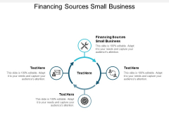 Financing Sources Small Business Ppt PowerPoint Presentation File Elements Cpb