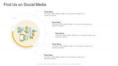 Find Us On Social Media Company Profile Ppt Professional Slides PDF