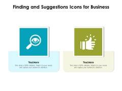 Finding And Suggestions Icons For Business Ppt PowerPoint Presentation Slides Smartart PDF